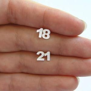Personalized Numbers Earrings Two