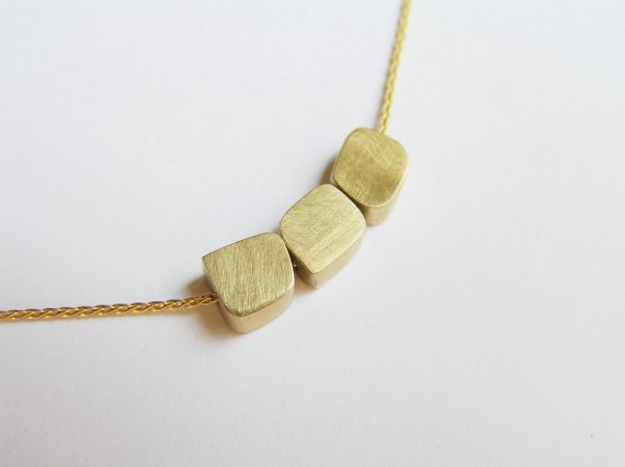 Delicate 14k gold necklace gold cube beads pendants solid gold delicate 14k gold necklace gold cube beads pendants solid gold necklace aloadofball Gallery